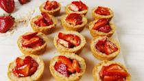 """<p>And it involves these cookie cups.</p><p>Get the recipe from <a href=""""https://www.delish.com/cooking/recipe-ideas/a20965720/strawberry-crisp-cookie-cups-recipe/"""" rel=""""nofollow noopener"""" target=""""_blank"""" data-ylk=""""slk:Delish."""" class=""""link rapid-noclick-resp"""">Delish.</a> </p>"""