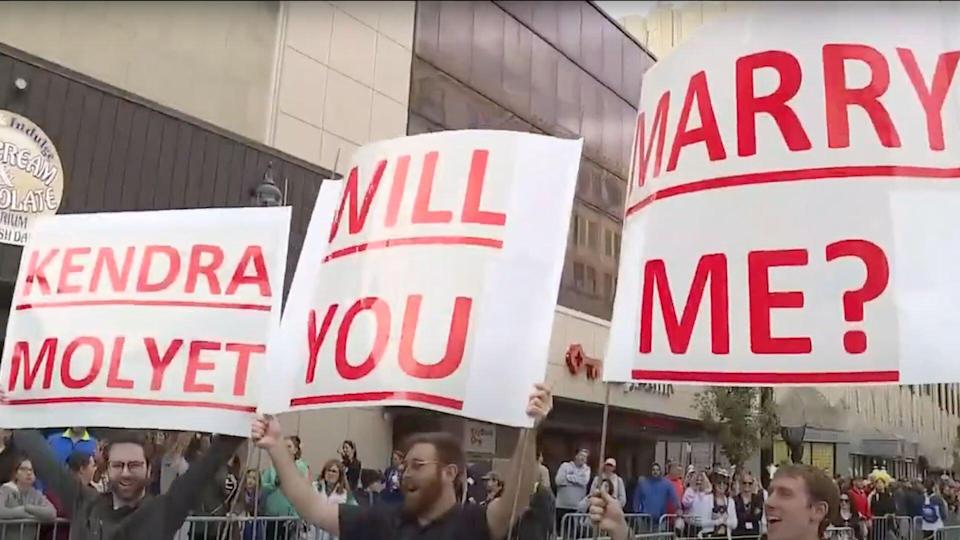 Woman Finishes Half Marathon -- and Gets a Surprise Proposal from Her Boyfriend: 'That Was Crazy'