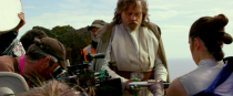 <p>This behind-the-scenes shot of Hamill and Ridley hints at the developing relationship between Rey and Luke.<br>(Credit: Lucasfilm) </p>
