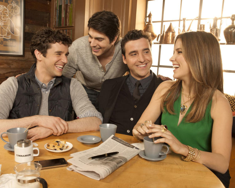"Michael Urie, Brandon Routh, David Krumholtz and Sophia Bush star in ""Partners"" on CBS."