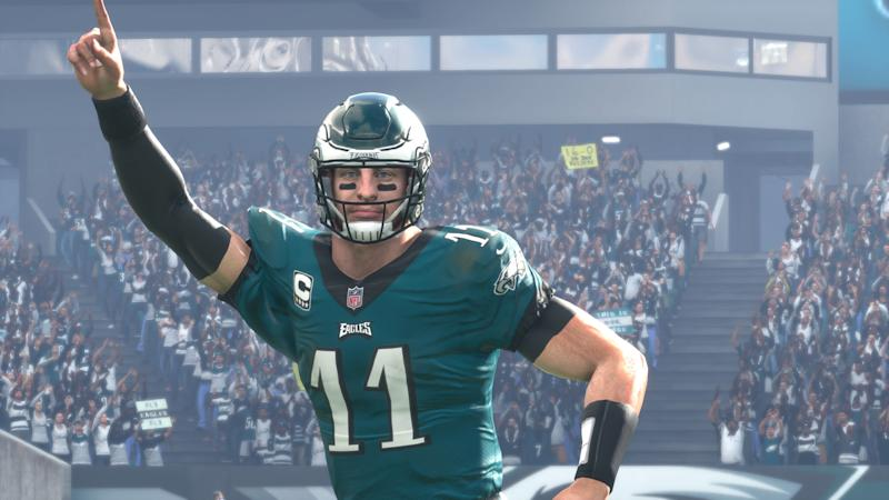 best loved 5e5bc 739e4 Madden NFL 18' simulation: What if Carson Wentz faced the ...