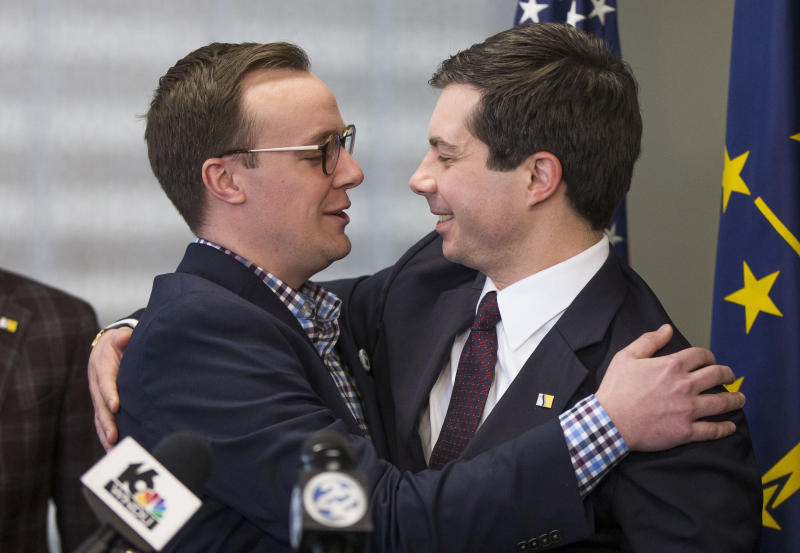 Pete Buttigieg with husband Chasten Glezman