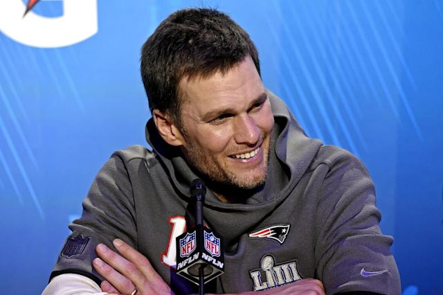 Tom Brady was asked about LeBron James during a Tuesday press conference, and he took the opportunity to have some fun comparing his athleticism to that of the Los Angeles Lakers superstar.