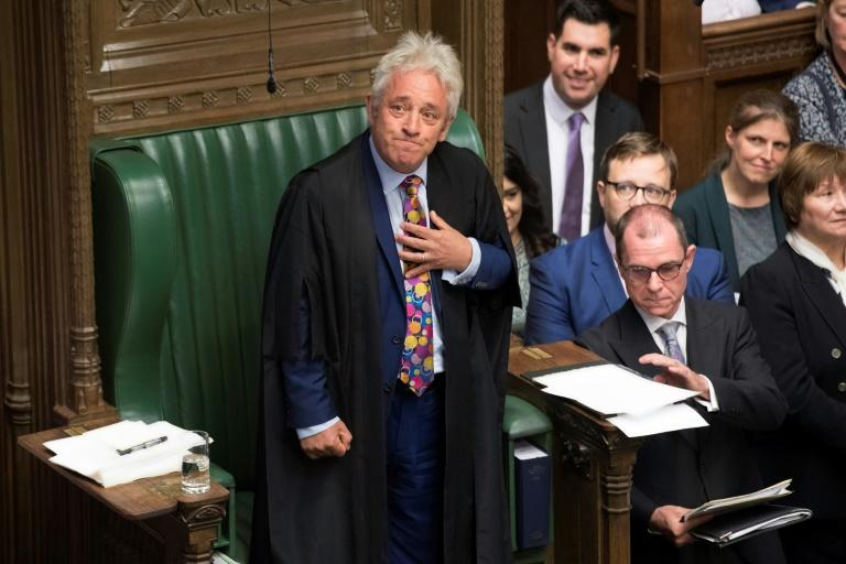 """The speaker of Britain's House of Commons John Bercow said disobeying the law """"would be the most terrible example to set to the rest of society"""" (AFP Photo/JESSICA TAYLOR)"""