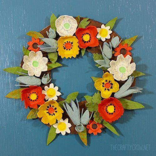 """<p>Older kids can give their bedrooms a seasonal twist by taking on this wreath project, which is made from painted egg cartons. If they like the process, they can make their own wreaths for every season.</p><p><em><a href=""""https://www.thecraftycrow.net/2014/11/fall-egg-carton-wreath-diy.html"""" rel=""""nofollow noopener"""" target=""""_blank"""" data-ylk=""""slk:Get the tutorial at The Crafty Crow »"""" class=""""link rapid-noclick-resp"""">Get the tutorial at The Crafty Crow »</a> </em></p>"""