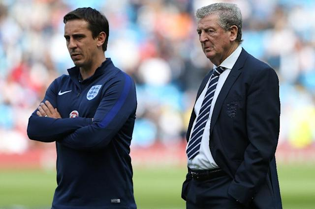 Gary Neville (left) and Roy Hodgson both stepped down after England's Euro 2016 defeat to Iceland (AFP Photo/Scott Heppell)