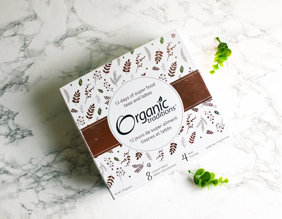Organic Traditions Limited Edition 12 Day Holiday Box. Image via Organic Traditions.