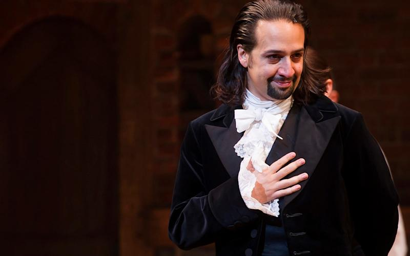 Lin-Manuel Miranda in the Broadway smash Hamilton, which introduced new ticket technology for its London run - Credit: Charles Sykes/Invision/AP, File