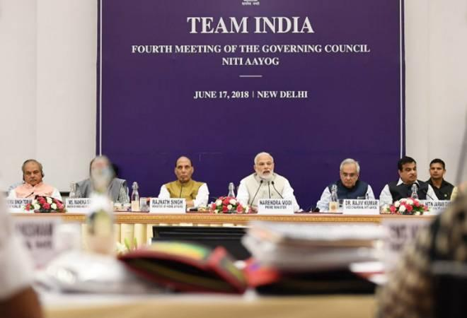 Niti Aayog's Governing Council on Sunday met for the fourth time at Rashtrapati Bhawan. The Governing Council is the premier body tasked with  evolving a shared vision of national development priorities, sectors and  strategies with the active involvement of States in shaping the  development narrative.