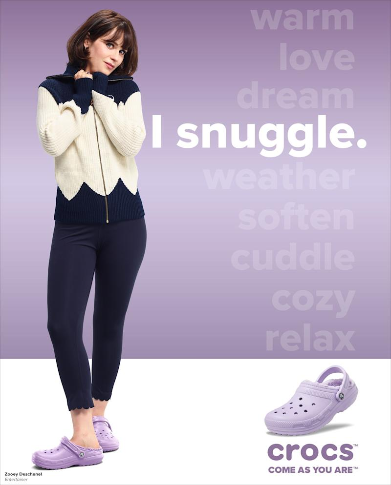 """Zooey Deschanel for Crocs """"Comes Are You Are"""" campaign (Photo: Crocs)"""