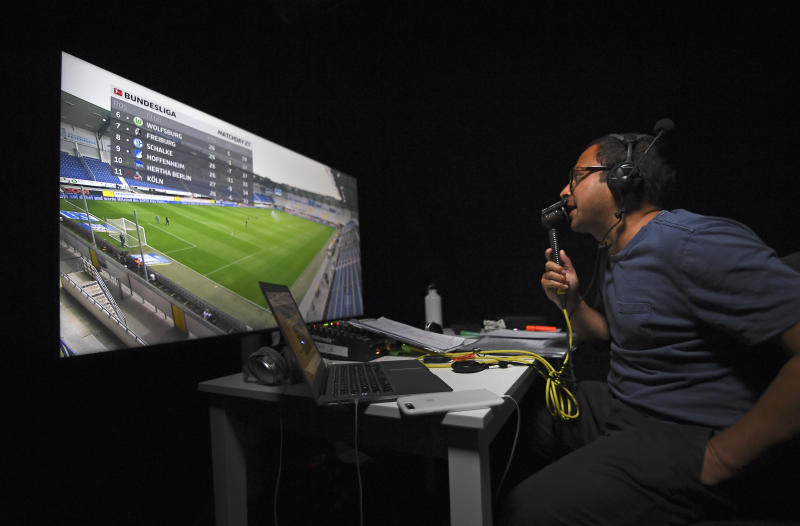 Soccer commentator forced to call German games from London