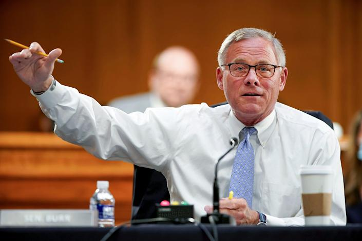 Sen. Richard Burr, R-N.C., speaks during a Senate Health, Education, Labor and Pensions Committee hearing on May 11.