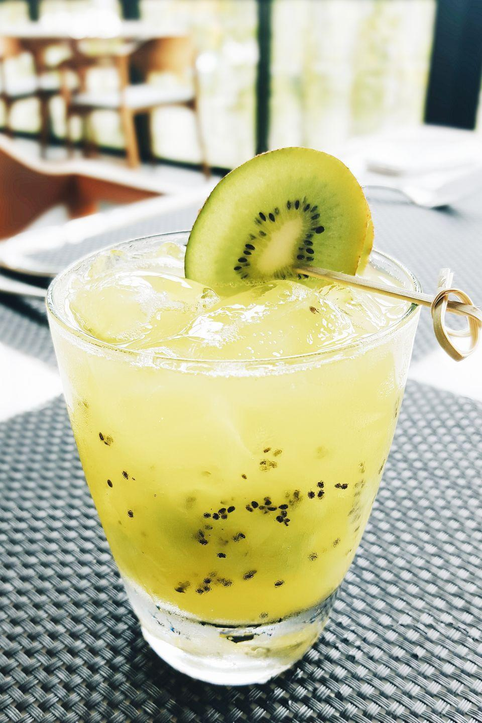 "<p>One sip and you'll fall in love with this unique drink that perfectly balances sweet and tart flavors.</p><p><strong><em><a href=""https://www.womansday.com/food-recipes/food-drinks/recipes/a21009/kiwi-lemonade-spritzer/"" rel=""nofollow noopener"" target=""_blank"" data-ylk=""slk:Get the recipe Kiwi Lemonade Spritzer"" class=""link rapid-noclick-resp"">Get the recipe Kiwi Lemonade Spritzer</a>.</em></strong></p>"