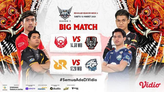 MPL Season 7 : RRQ Hoshi vs Evos Legends. (Sumber : dok. vidio.com)