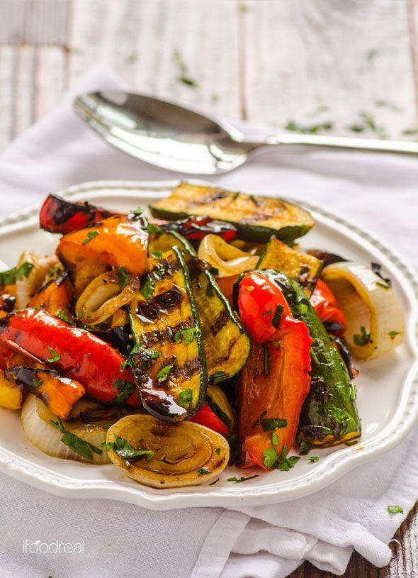 """<p>Balsamic vinegar, olive oil, garlic, and basil give your vegetables an authentic, Italian flavor.</p><p>Get the recipe from <a href=""""http://ifoodreal.com/grilled-balsamic-vegetables/"""" rel=""""nofollow noopener"""" target=""""_blank"""" data-ylk=""""slk:iFoodreal"""" class=""""link rapid-noclick-resp"""">iFoodreal</a>.</p>"""