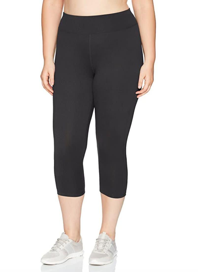 "Made of polyester and spandex, these <a href=""https://amzn.to/2POBbY5"" rel=""nofollow noopener"" target=""_blank"" data-ylk=""slk:capris"" class=""link rapid-noclick-resp"">capris</a> wick moisture, which will help keep you dry during a workout. They have a wide waistband so they stay comfortable. <br><br><strong>Sizes:</strong> These capris come in sizes 1X to 6X. <br><strong>Rating: </strong>They have a 4.5-star rating over 1,000 reviews. <br><strong>$$$:</strong> <a href=""https://amzn.to/2XU2lkY"" rel=""nofollow noopener"" target=""_blank"" data-ylk=""slk:Find them starting at $14 on Amazon"" class=""link rapid-noclick-resp"">Find them starting at $14 on Amazon</a>."