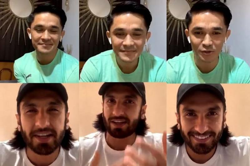 Sunil Chhetri and Ranveer Singh Bond over 'WWF', Deepika Padukone Makes a Cameo in Instagram Live