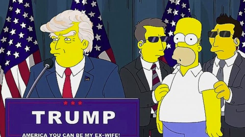 Donald Trump has appeared in several episodes of the Simpsons.