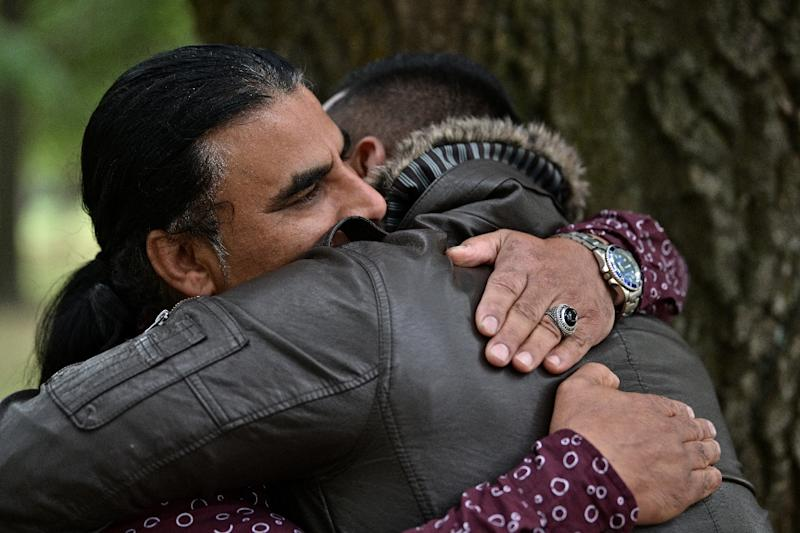 Afghan refugee Abdul Aziz is being hailed as a hero after he distracted and chased the Christchurch gunman (AFP Photo/Anthony WALLACE)