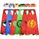 <p>They can channel their favorite heroes with this fun set of <span>Cartoon Super Satin Capes </span> ($23).</p>