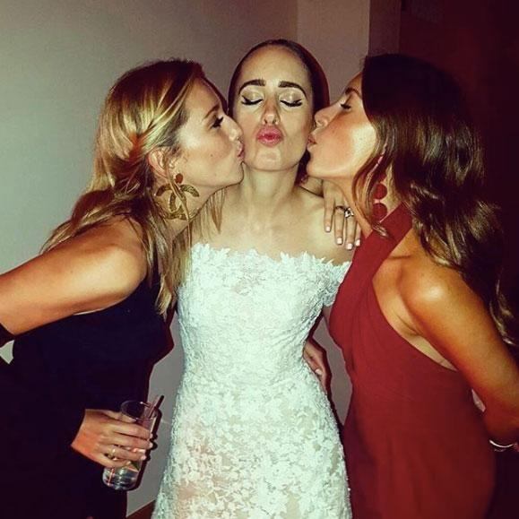 Jasmine attended British TV presenter and model Louise Roe's (centre) nuptials in 2016, so surely she'll return the favour and invite the UK celeb for the wedding Down Under. Source: Instagram/jasyarby