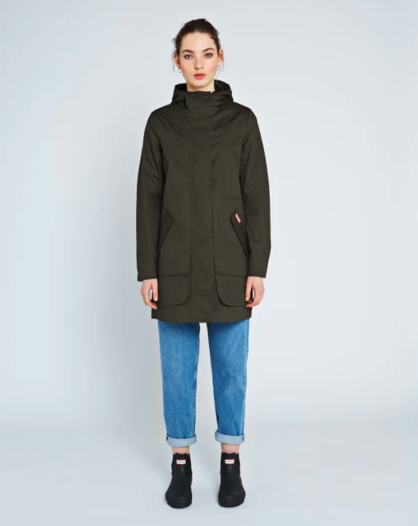 Women's Original Waterproof Cotton Hunting Coat. Image via Hunter.