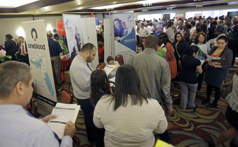 Applications for US jobless aid near a 5-year low