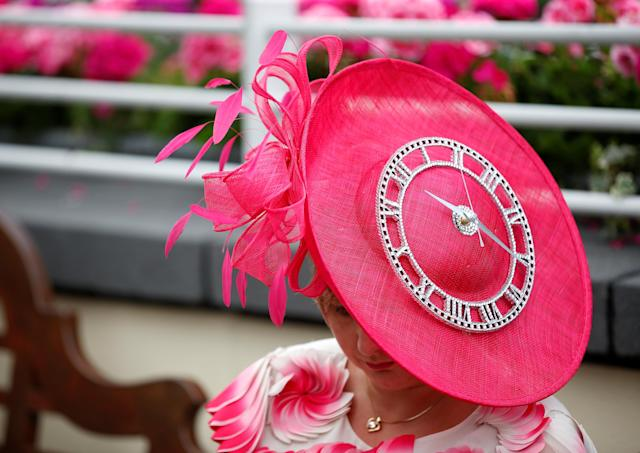 Horse Racing - Royal Ascot - Ascot Racecourse, Ascot, Britain - June 22, 2017 General view of a racegoers hat during Ladies Day at Ascot Action Images via Reuters/Matthew Childs