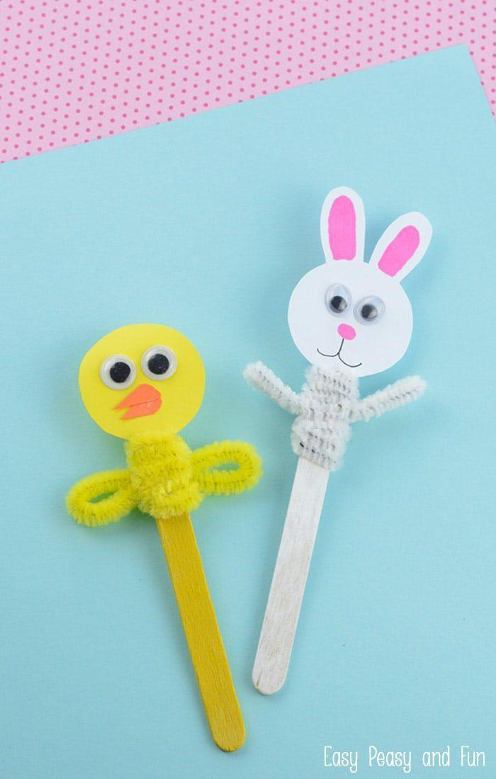 """<p>DIY bunny and chick Easter puppets will keep your tots entertained from craft time to play time. </p><p><strong>Get the tutorial at <a href=""""https://www.easypeasyandfun.com/easter-craft-stick-puppets/"""" rel=""""nofollow noopener"""" target=""""_blank"""" data-ylk=""""slk:Easy Peasy and Fun"""" class=""""link rapid-noclick-resp"""">Easy Peasy and Fun</a>. </strong></p><p><strong><a class=""""link rapid-noclick-resp"""" href=""""https://www.amazon.com/Karlash-Sticks-Wooden-Popsicle-Length/dp/B07D3FMN3Q/?tag=syn-yahoo-20&ascsubtag=%5Bartid%7C10050.g.1111%5Bsrc%7Cyahoo-us"""" rel=""""nofollow noopener"""" target=""""_blank"""" data-ylk=""""slk:SHOP POPSICLE STICKS"""">SHOP POPSICLE STICKS</a><br></strong></p>"""