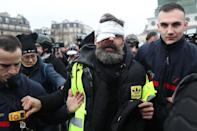 "Jerome Rodrigues, who has become a well-known figure in the ""yellow vest"" movement with 50,000 followers on Facebook, was live-streaming the protest on the website when he was hit (AFP Photo/Zakaria ABDELKAFI)"