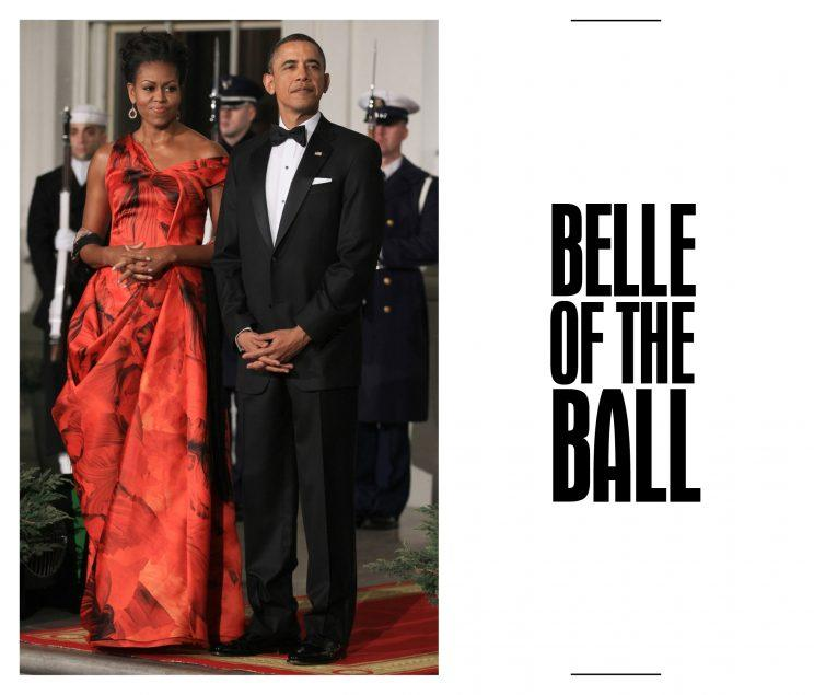 <p>From the Jason Wu gown for her first inaugural ball to her final state dinner Atelier Versace gold chainmail dress, Mrs Obama has never disappointed us at any black tie event.</p>