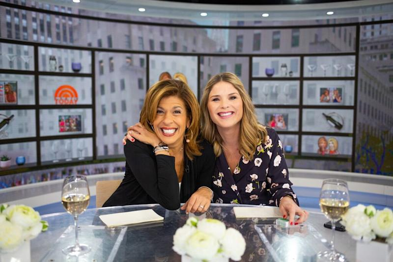 Hoda Kotb (left) and Jenna Bush Hager on Today | Nathan Congleton/NBCU Photo Bank/NBCUniversal via Getty