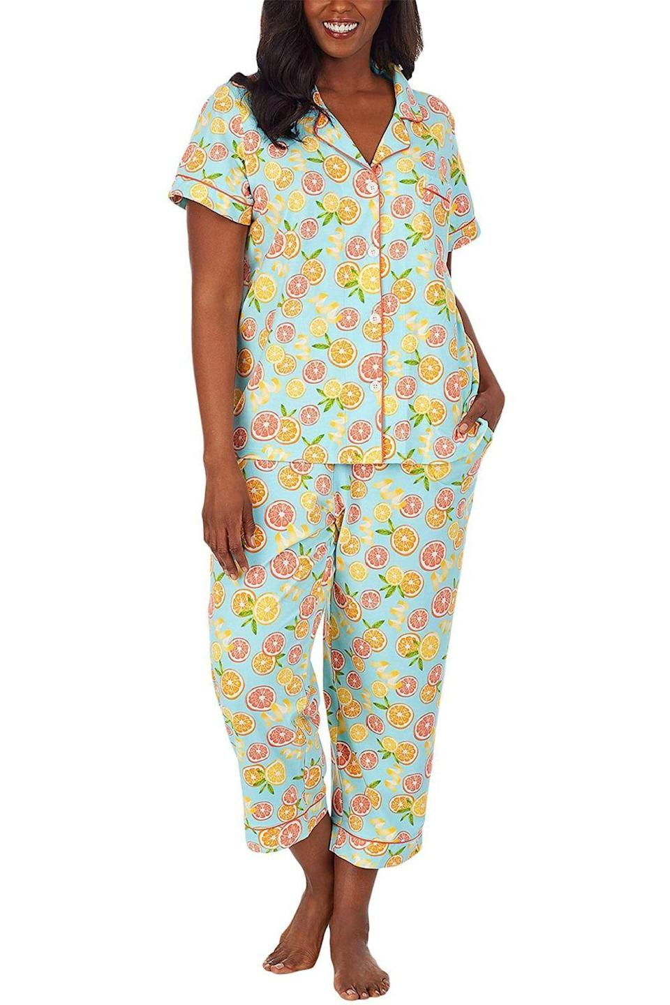 "<p><strong>BedHead Pajamas</strong></p><p>amazon.com</p><p><strong>$108.00</strong></p><p><a href=""https://www.amazon.com/dp/B08V4S2G9V?tag=syn-yahoo-20&ascsubtag=%5Bartid%7C10049.g.20108306%5Bsrc%7Cyahoo-us"" rel=""nofollow noopener"" target=""_blank"" data-ylk=""slk:Shop Now"" class=""link rapid-noclick-resp"">Shop Now</a></p><p>Your mom will love swapping out her flannel winter PJs with this lightweight cotton short-sleeve top and cropped pants for spring and summer. </p>"