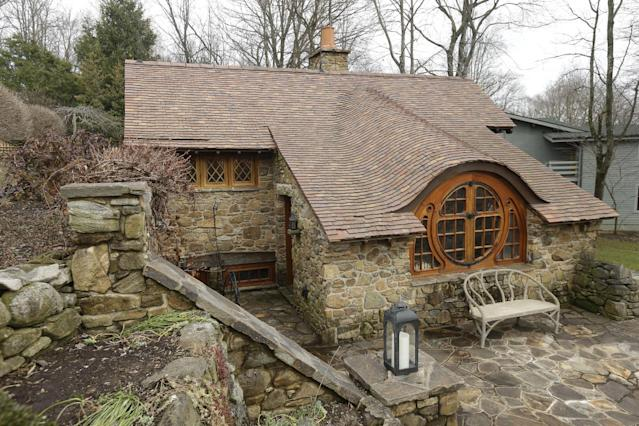 """Shown is an exterior view of the """"Hobbit House"""" Tuesday, Dec. 11, 2012, in Chester County, near Philadelphia. Architect Peter Archer has designed a """"Hobbit House"""" containing a world-class collection of J.R.R. Tolkien manuscripts and memorabilia.(AP Photo/Matt Rourke)"""