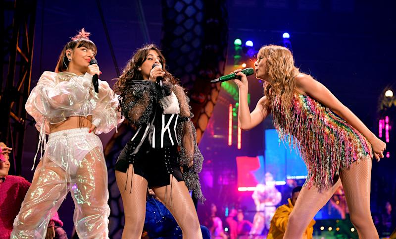 Charli XCX, Camila Cabello, and Taylor Swift
