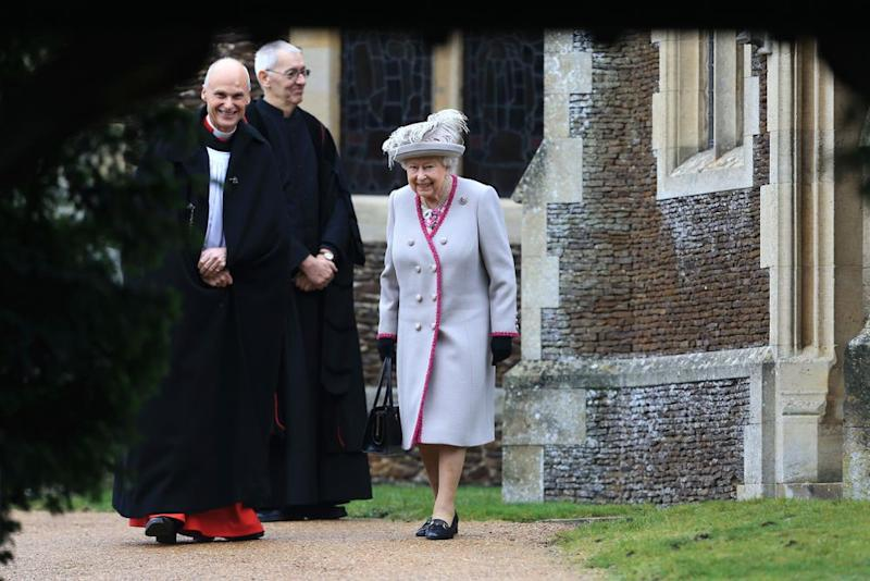 Queen Elizabeth leaving church on Christmas Day 2018. | Stephen Pond/Getty Images