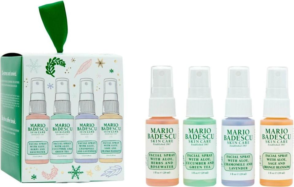 <p>This <span>Mario Badescu Discover Mario: Meet The Mists Kit</span> ($10) is perfect for the person who loves face sprays.</p>