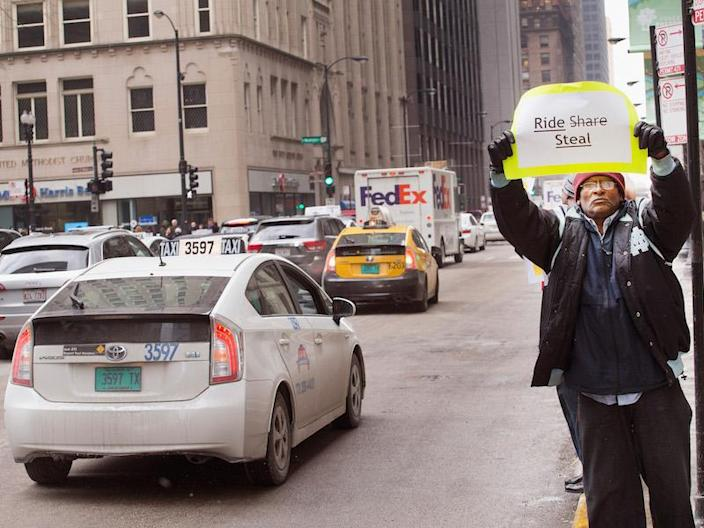 Chicago Uber Protests