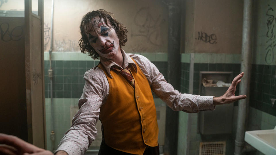 Joaquin Phoenix as Arthur Fleck in 'Joker'. (Credit: Niko Tavernise/Warner Bros)