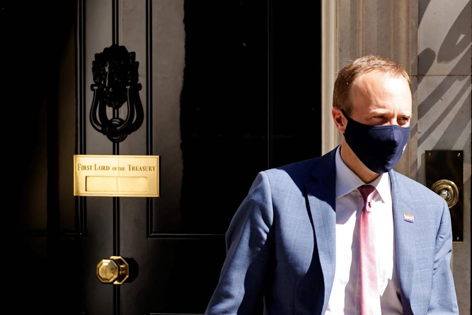 Matt Hancock resigned from the Cabinet on Saturday  (AFP via Getty Images)
