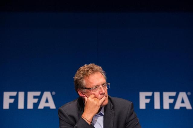 FIFA this month suspended Blatter's right-hand man Jerome Valcke after he was accused of involvement in an accord to sell tickets for the 2014 World Cup at inflated prices (AFP Photo/Sebastien Bozon)