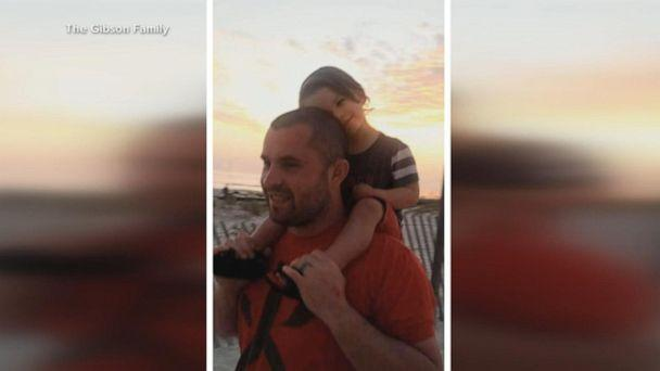 PHOTO: Wyatt Gibson poses on the shoulders of his father, Wes Gibson, in this undated family photo. (The Gibson Family)