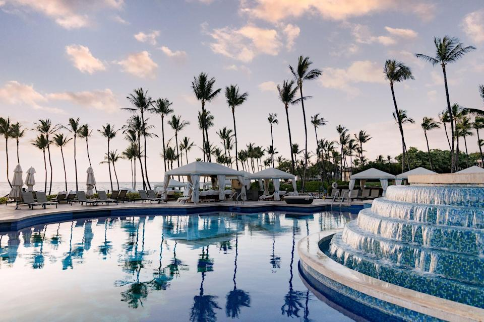 The sweeping pool at the Grand Wailea.
