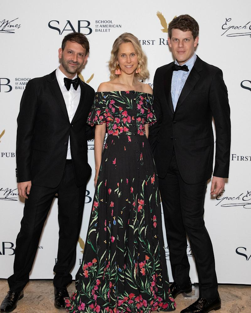 Paul Arnhold, Indre Rockefeller, and Wes Gordon attend gthe School of American Ballet Winter Ball on March 11, 2019 at the David H. Koch Theater at Lincoln Center.