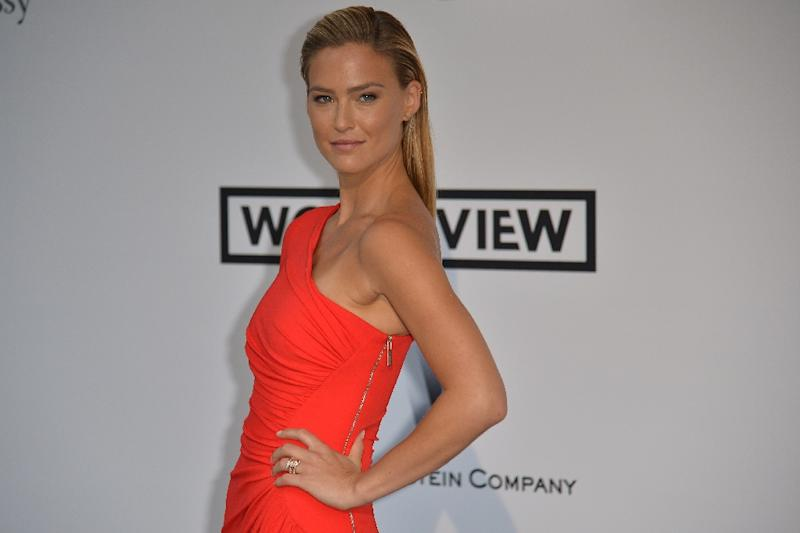 Israeli model Bar Refaeli poses during the Cannes Film Festival in France on May 22, 2014