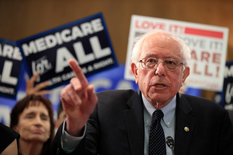Sen. Bernie Sanders, I-Vt., introduces the Medicare for All Act of 2019, on Capitol Hill in Washington, Wednesday, April 10, 2019. (Photo: AP Photo/Manuel Balce Ceneta)