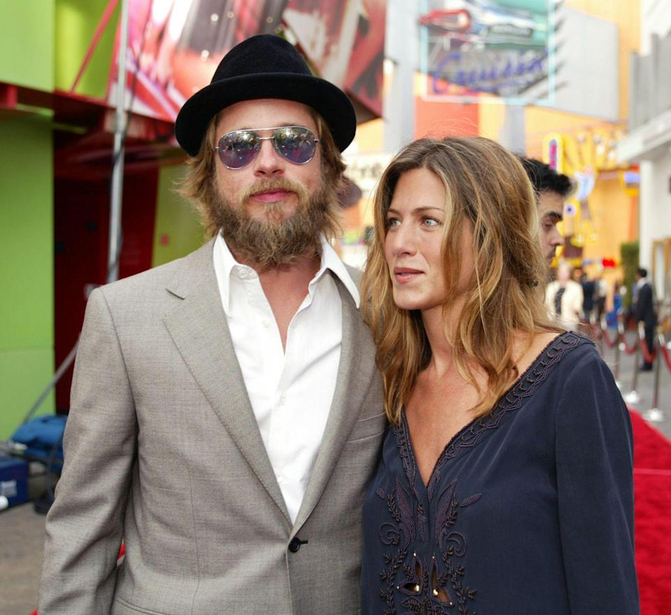 <p>Fans almost didn't recognize Pitt when he arrived at the premiere of <em>The Bourne Identity</em> sporting a full beard and long scruffy hair. </p>