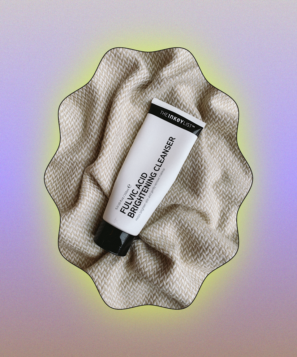 """This foaming cleanser only just launched at Cult Beauty but I was lucky to get my hands on a tube in January and it's already gone. <a href=""""https://www.refinery29.com/en-gb/fulvic-acid-skincare-benefits"""" rel=""""nofollow noopener"""" target=""""_blank"""" data-ylk=""""slk:Fulvic acid"""" class=""""link rapid-noclick-resp"""">Fulvic acid</a> (in the form of tiny pieces of peat suspended in the gel) is the mainstay ingredient, soothing skin instantly and brightening over time. I used this as an evening cleanser (I always <a href=""""https://www.refinery29.com/en-gb/how-to-get-clear-healthy-skin#slide-6"""" rel=""""nofollow noopener"""" target=""""_blank"""" data-ylk=""""slk:double cleanse"""" class=""""link rapid-noclick-resp"""">double cleanse</a>) as it quickly cuts through heavy makeup and makes skin feel so clean. I'm convinced it has reduced my breakouts, too.<br><br><strong>The Inkey List</strong> Fulvic Acid Brightening Cleanser, $, available at <a href=""""https://www.cultbeauty.co.uk/the-inkey-list-fulvic-acid-brightening-cleanser.html"""" rel=""""nofollow noopener"""" target=""""_blank"""" data-ylk=""""slk:Cult Beauty"""" class=""""link rapid-noclick-resp"""">Cult Beauty</a>"""