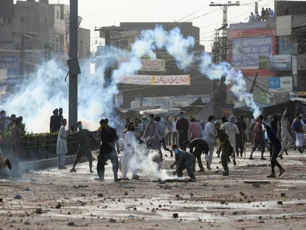 Violent protest led by banned TLP on Sunday (ANI)