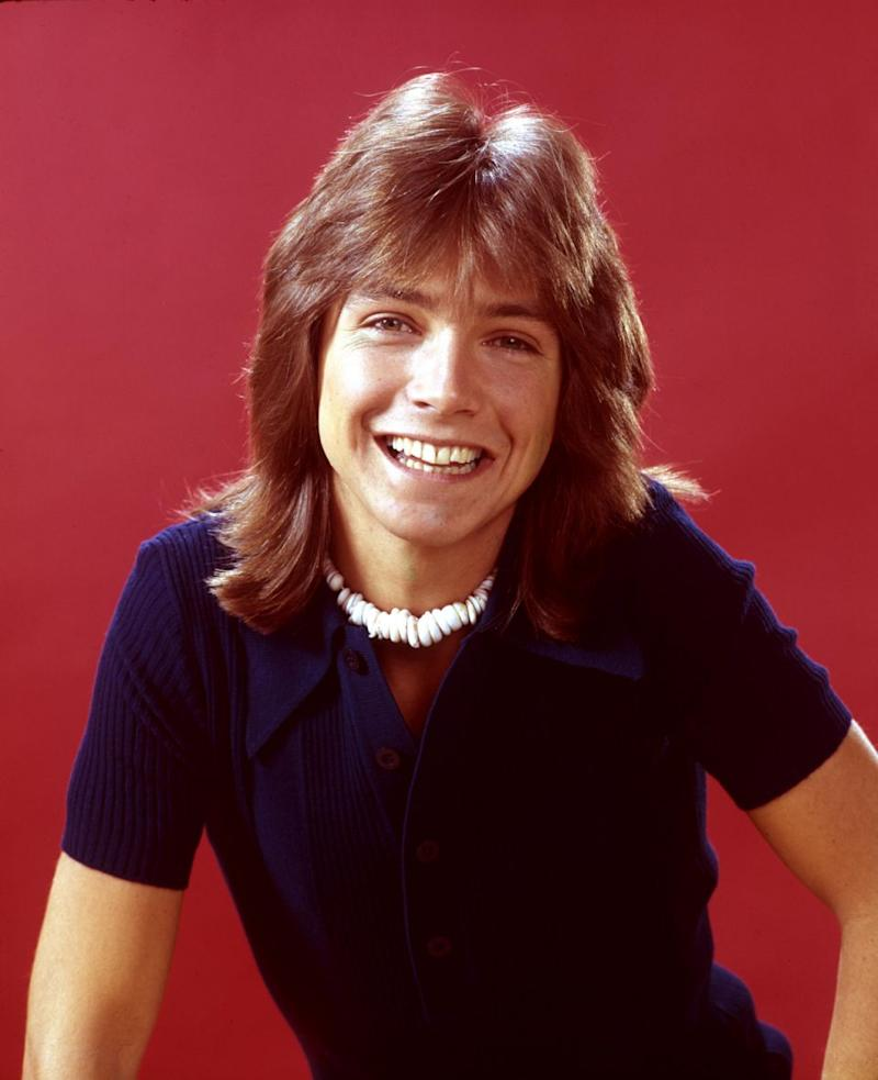 David, here in 1972, was a teen heartthrob. Source: Getty